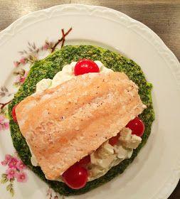 Sarahs Krisenherd: [Instagram Recipe] Spinat-Omelette aus dem Ofen mit Frühlingszwiebel-Frischkäse und Lachsfilet