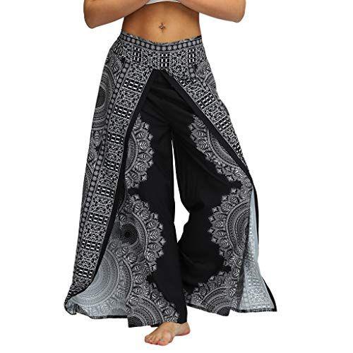ZumZup Femme Pantalons Yoga Doux Pantalon Harem Bouffant Pilates Spandex Modal Sarouel Jambe Fitness Jogging Danse Taille Haute /Élastique Extensible Pantalon Boho