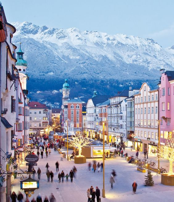 Innsbruck, Austria CANNOT wait for the end of the year to go visit this beautiful gem! We live in a beautiful world: