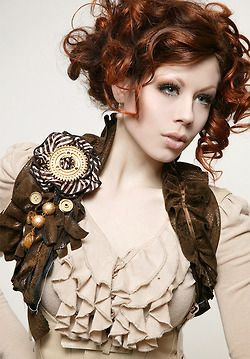 Ruffled blouses can easily be dresses up with bolero jackets or vests for a great Neo Victorian look. #provestra