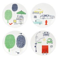 kate spade new york About Town Tidbit Plates 15cm (Set of 4)