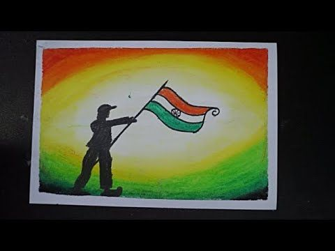 Independence Day Drawing With Oil Pastel Colours Drawing For 15 August Oil Pastel Dr Independence Day Drawing Oil Pastel Colours Oil Pastel Drawings Easy