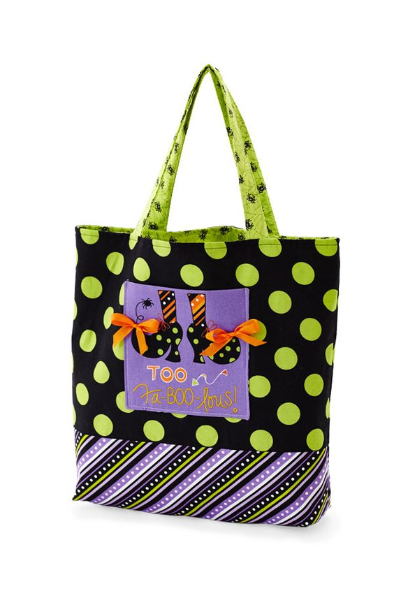 Tricks for Treats bags by Kimberbell Designs featuring her Mind Your Mummy fabrics are so fun and make great use of the panel. Pattern available in Fall issue of Quilts and More. Image used with permission from Quilts and More magazine. 2015 Meredith Corporation. All rights reserved.