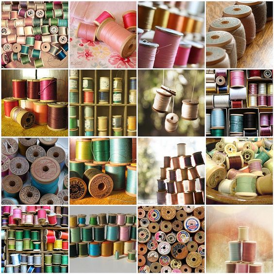 """""""Spools mosaic,"""" by Raincloud☁, via Flickr -- Click through for links to each photo."""