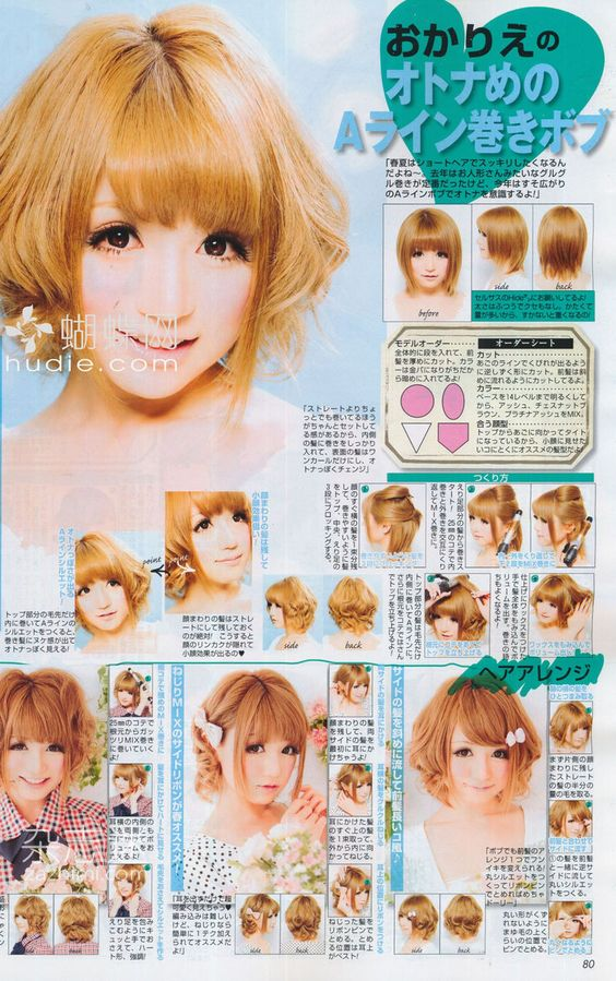 Kawaii Curly short hairstyles