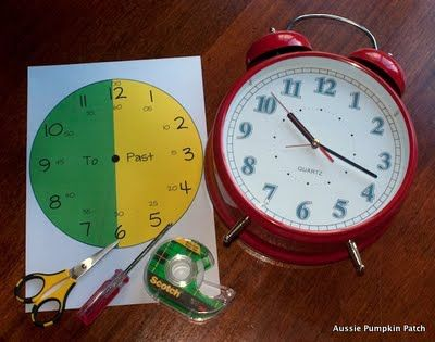 Aussie Pumpkin Patch: Learning Clock Face