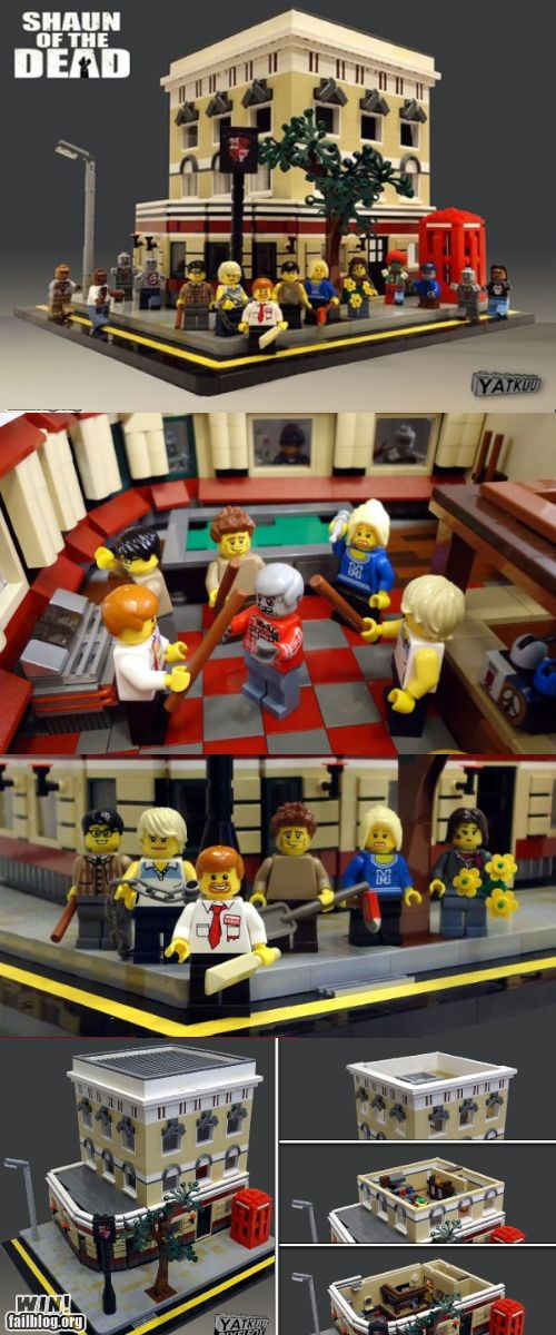 Shaun of the Dead Legos... bummer this project didn't go.