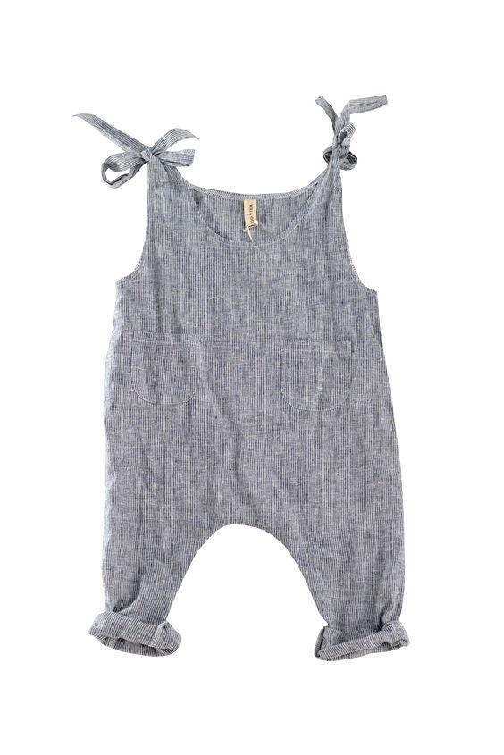 YOli & Otis runaway jumpsuit. Hemp/Cotton. Herbally dyed.   kids style