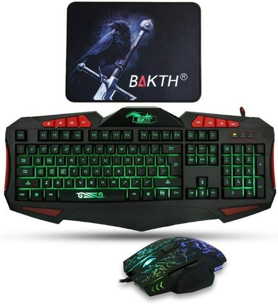 Awesome Bakth Unique Premium Adjustable 7 Color Illuminated Led Backlight Wired Multimedia Usb Gaming Keyboard And Mouse Set Combos Bu Keyboard Pc Keyboard Usb