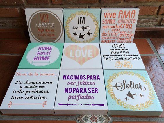 Cuadros decorativos modernos impresos frases de la vida - Cuadros de frases ...
