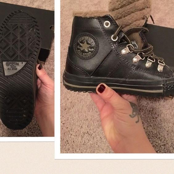 Youth Converse. Size 1 Youth Black Winter Boot Converse for kids. Box included. Converse Shoes Winter & Rain Boots