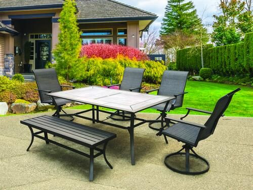Backyard Creations Southfield Collection 6 Piece Dining Patio Set In 2020 Patio Furniture Collection Backyard Creations Patio Set