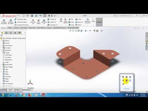 Sheet Metal In Solid Works 05 Solid Works Youtube Tablet