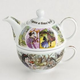 Opentip.com: Cardew Design SNW10015 SNOW WHITE Tea For One (16oz Pot, 10oz Cup)