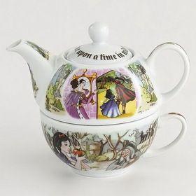 Opentip.com: Cardew Design SNW10015 SNOW WHITE Tea For One (16oz Pot, 10oz Cup)