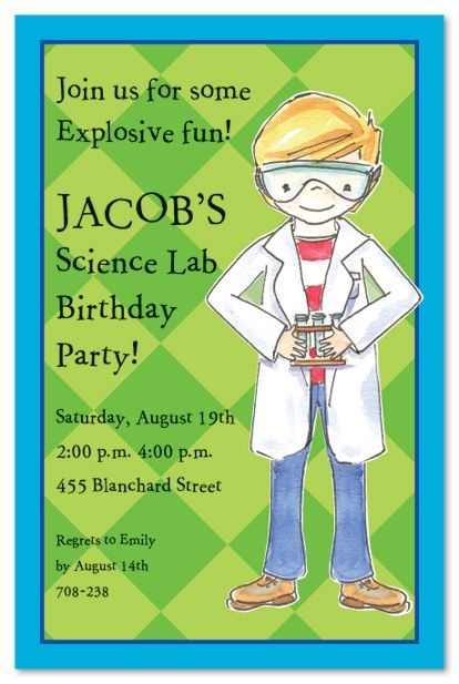 Science birthday party invitations FUN Im going to have kids so