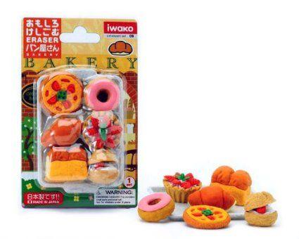 Amazon.com: Iwako Japanese Eraser Set - Japanese Baked Goods: Toys & Games