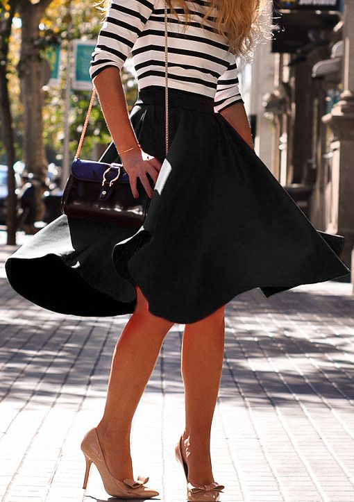 Shop Black High Waist Flare Skirt online. SheIn offers Black High Waist Flare Skirt & more to fit your fashionable needs.