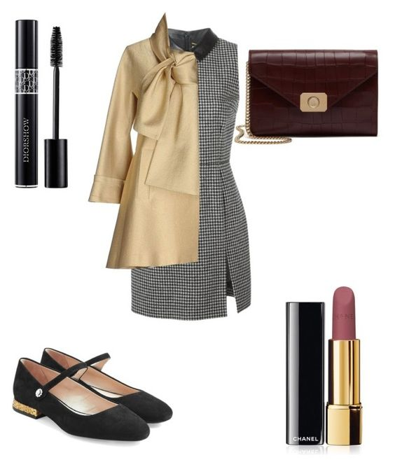 """""""Untitled #331"""" by kayleegb on Polyvore featuring Yves Saint Laurent, Marc Jacobs, Elie Saab, Chanel, Christian Dior and Mulberry"""