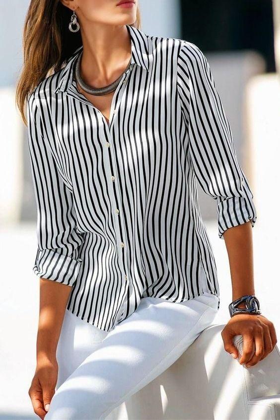 تنسيق السروال الأبيض و القميص من الإطلالات الصيفية الشيك و الهادئة Hijab Fashion Fashion Casual Dresses