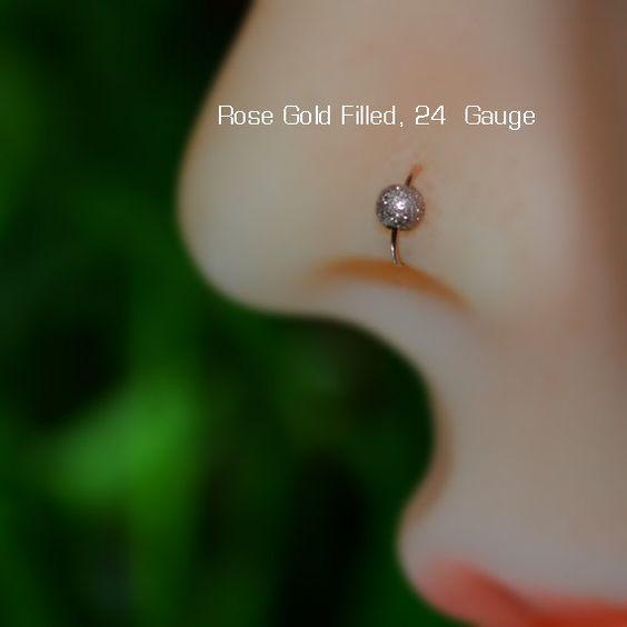 Kleine Nase Ring Gold Nose Hoop Tragus von ModernJewelBoutique