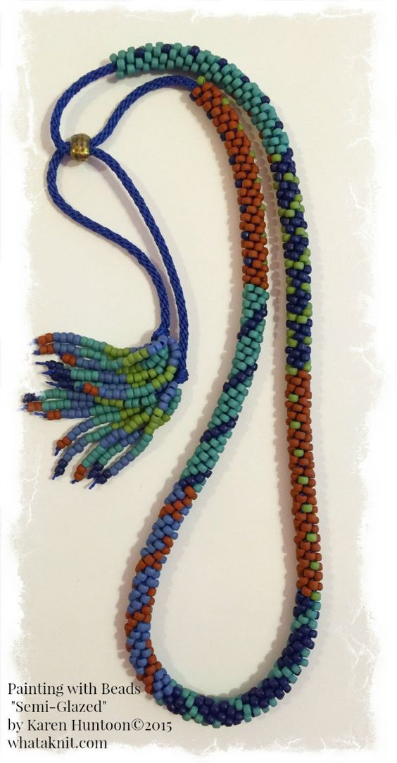 8/0 Painting with Beads Necklace Kit with Adjustable Closure