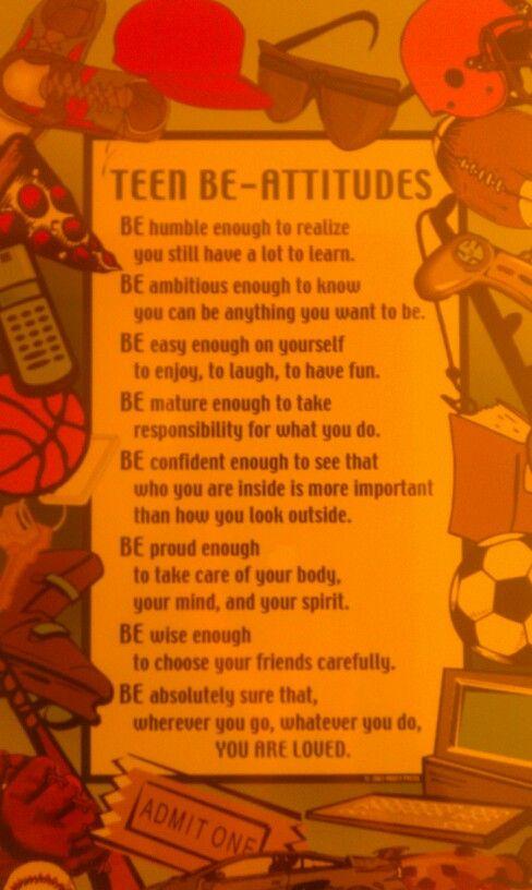 Teen Be Attitudes 121