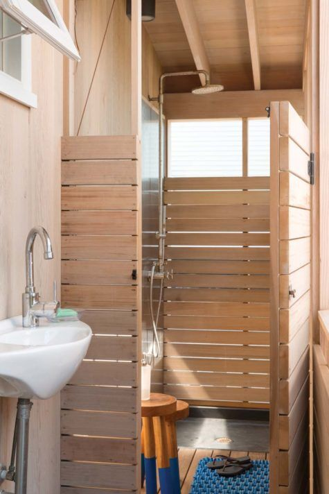 Simplicity Ease Maine Home Design In 2020 Cedar Walls Slate Flooring Outdoor Sinks