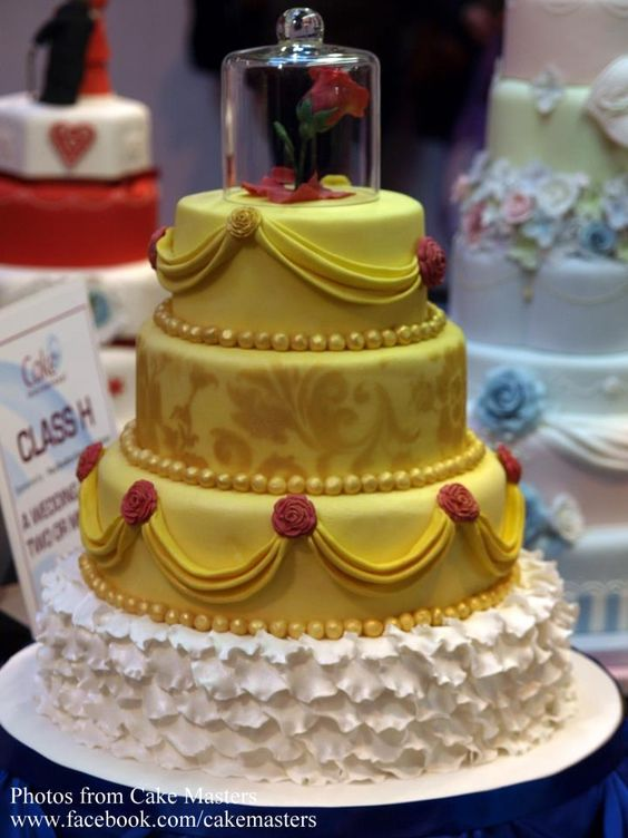 Beauty and the Beast wedding cake:
