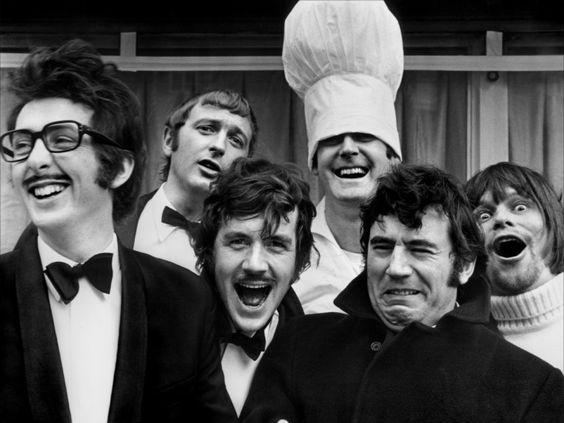 Monty Python: Eric Idle, Graham Chapman, Michael Palin, John Cleese, Terry Jones and Terry Gilliam.