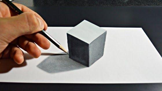 27 Lukisan Termudah 3d 80 Gambar 3 Dimensi Cara Melihat Dan Contoh Benda 3d Download Cara Menggambar 3d Art Pensil Untuk Pemula In 2020 Home Decor Decor Bookends