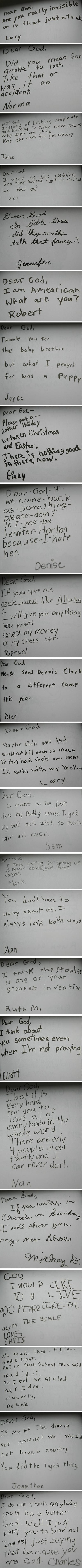 Kids thoughts towards God