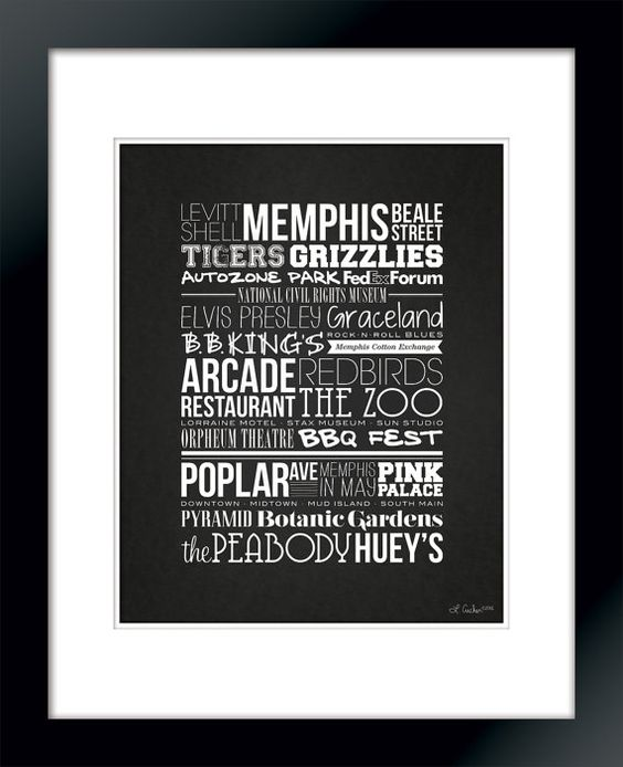 Memphis Places <3 I need this!