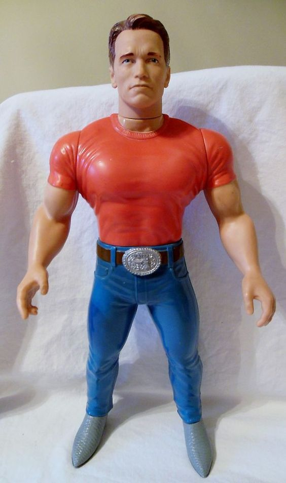Mattel 1993 Last Action Hero Jack Slater Arnold Schwarzenegger Talking Doll NR in my Arnold's voice; ''I'M HERE TO PUMP YOU UP ,,EVERY BODY GET DOOONNNEEE!!! Sorry fam not with you !!