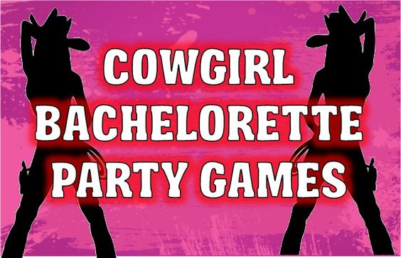 Cowgirl Bachelorette Party Games and Printables