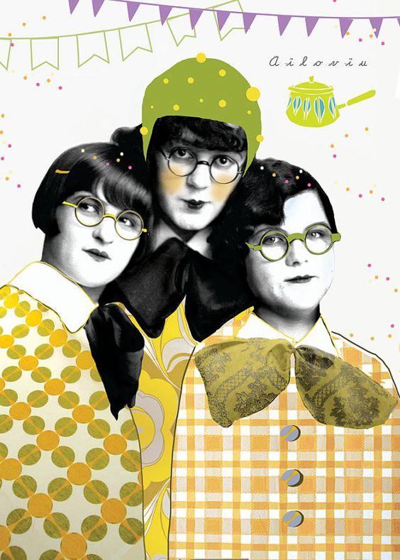 Retro Sisters Print on Uncovet.com