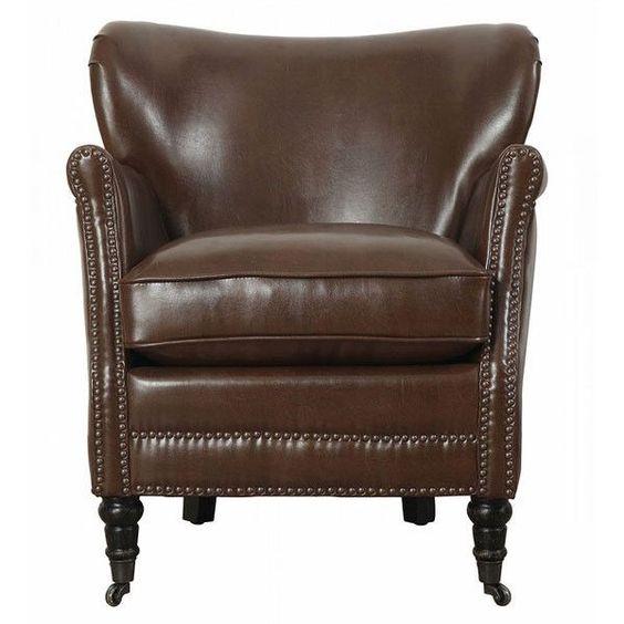 Merci Chocolate Leather Club Chair