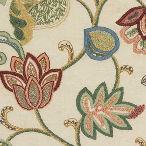 spice floral curtain fabric