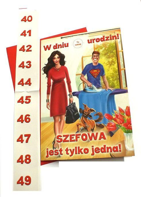 Duża Kartka 40 49 Urodziny życzenia Kobiety Urodziny