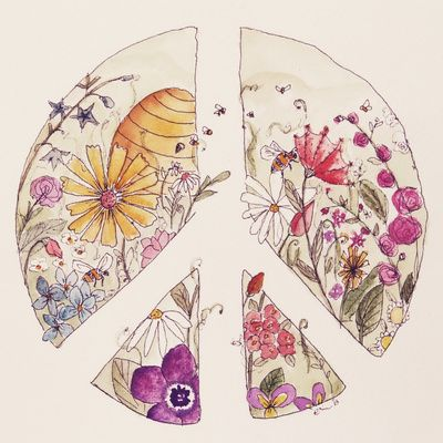 This is a great alternative peace sign concept that would look amazing as a tat