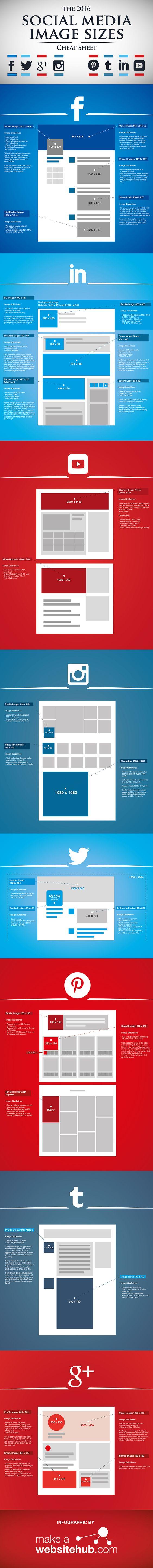 Après une première infographie sur la taille des images sur les réseaux sociaux en 2015,setupablogtoday.com à partagé une nouvelle infographie avec la taille des images sur les réseaux sociaux en 2016.Les plates-formes des réseaux sociaux sont toujours en train de changer les dimensions et les formats des images. Donc pour ...