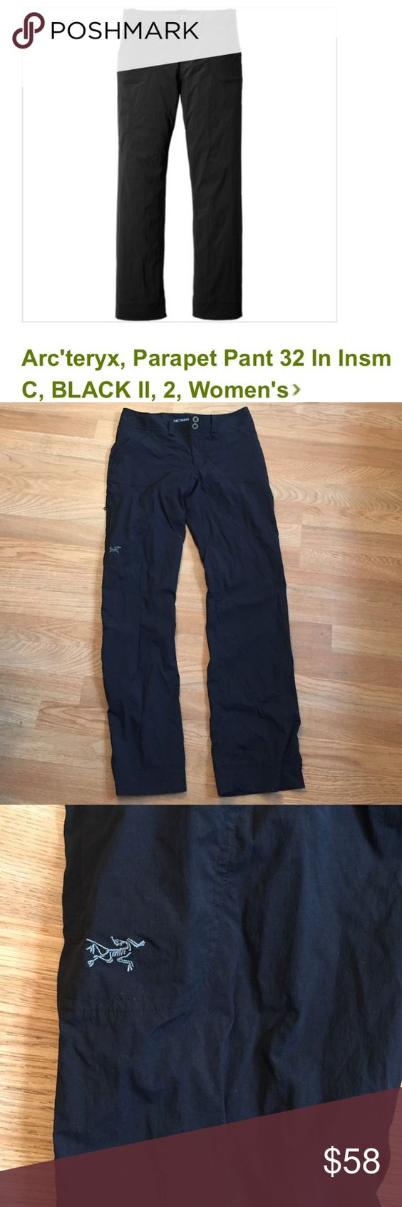 Arcteryx Women's Parapet Pant Bought from REI, soo comfy and lightweight. Perfect for climbing and hiking! Very flattering, just a little too snug on me! Probably only worn twice. Arc'teryx Pants Boot Cut & Flare