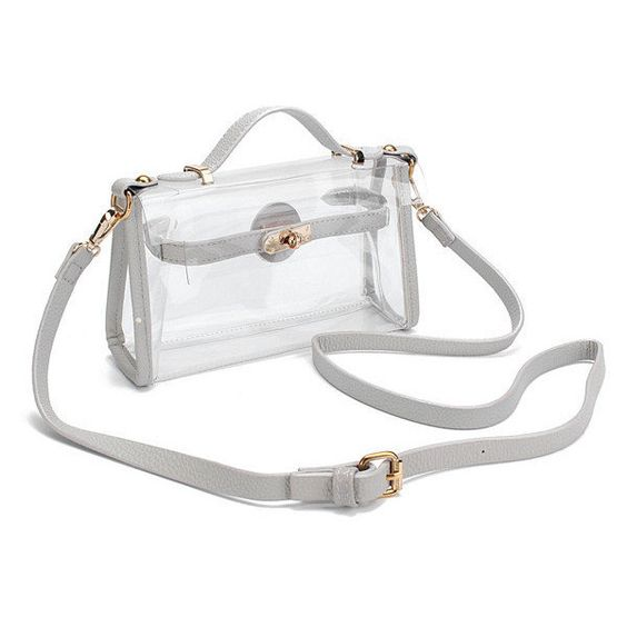 4df3105be3 Women Transparent Crossbody Bags Clear Shoulder Bags (31 BAM) ❤ liked on  Polyvore featuring