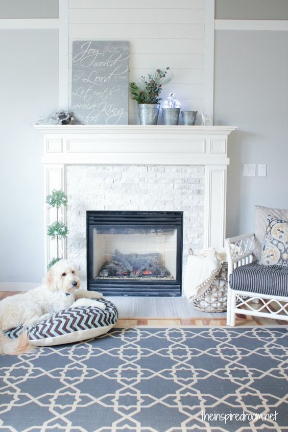 Fireplace Makeover Before After Planked Walls