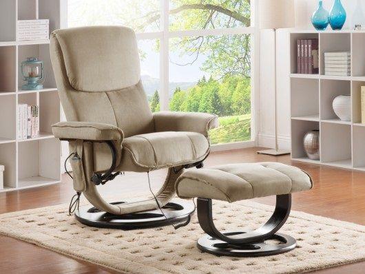 fauteuil massant julio en microfibre beige promo fauteuil massant pas cher prix fauteuil vente. Black Bedroom Furniture Sets. Home Design Ideas