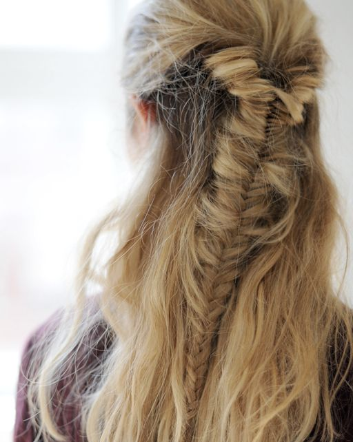 Fishtail braid - a simple, super cool way to pull back your hair during these hot, humid summer days.