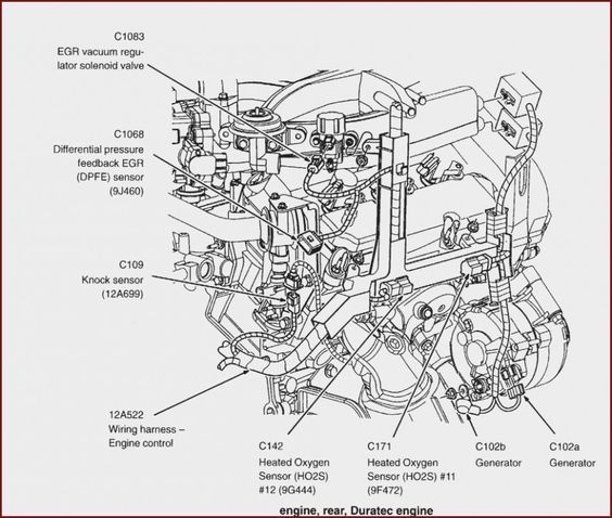 Engine Diagram 10 Ford Escape Manual In 2020 Ford Escape Diagram Ford