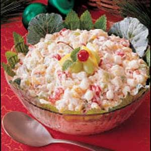 Christmas Fruit Salad Recipe via Taste of Home ..... A family Christmas Must Have!