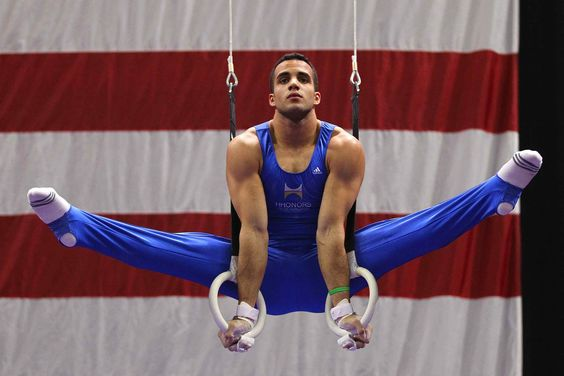 USA mens gymnast Daniel Leyva, a powerhouse for our team!