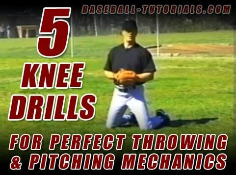 5 Knee Drills For Perfect Throwing Pitching Mechanics Pitching Mechanics Baseball Training Kids Baseball Workouts